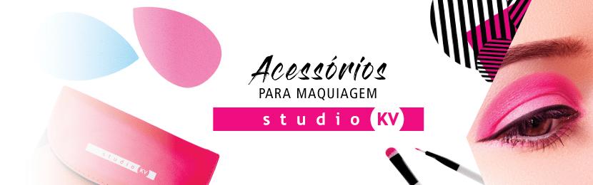 Pincéis e Acessórios Studio KV para Maquiagem