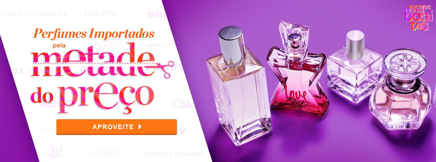 Perfumes: Importados pela Metade do Preço