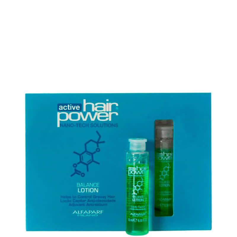 Alfaparf Active Hair Power Balance Lotion - Ampola de Tratamento 6x15ml