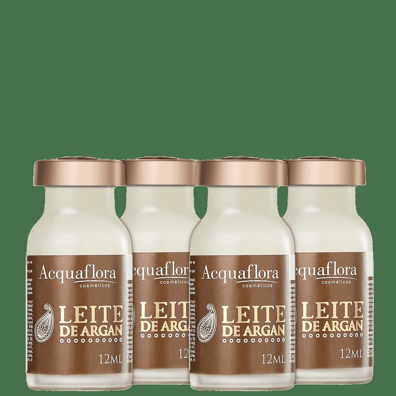 Acquaflora Elixir Leite de Argan - Ampola Capilar 4x12ml