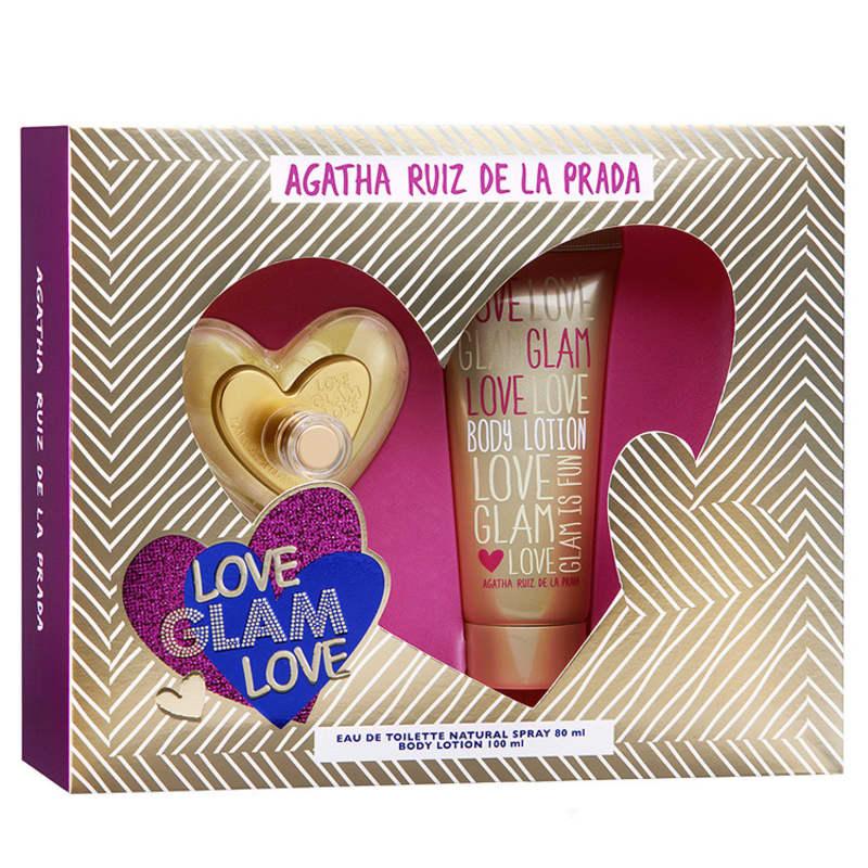 Conjunto Love Glam Love Agatha Ruiz de La Prada Feminino - Eau de Toilette 80ml + Loção 100ml