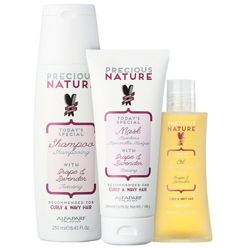 Kit Alfaparf Precious Nature Grape & Lavender Trio (3 Produtos)