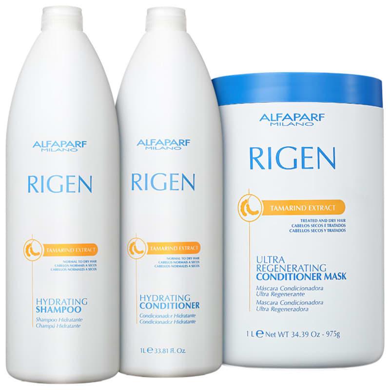 Kit Alfaparf Rigen Tamarind Extract Ultra Regenerating Profissional Triplo (3 Produtos)