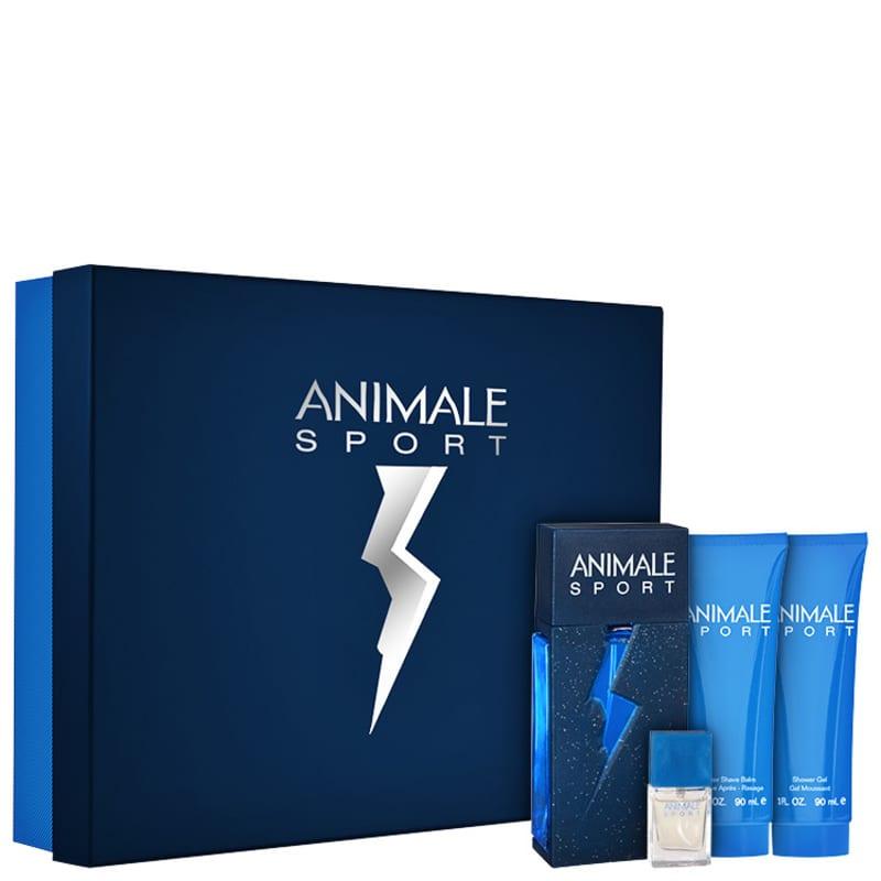 Conjunto Animale Sport For Men Masculino - Eau de Toilette 100ml + Loção Pós-Barba 90ml + Sabonete 90ml + Eau de Toilette 7,5ml