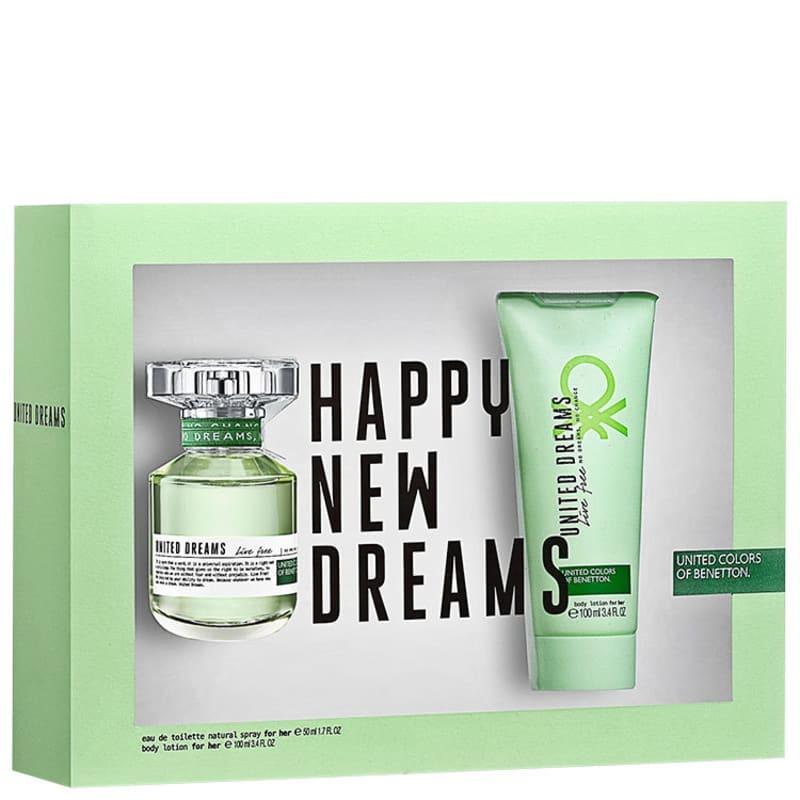 Conjunto United Dreams Live Free Benetton Feminino - Eau de Toilette 80ml + Loção Corporal 100ml