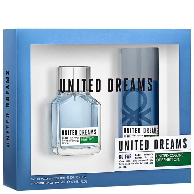 Conjunto United Dreams Go Far Benetton Masculino - Eau de Toilette 100ml + Desodorante 150ml
