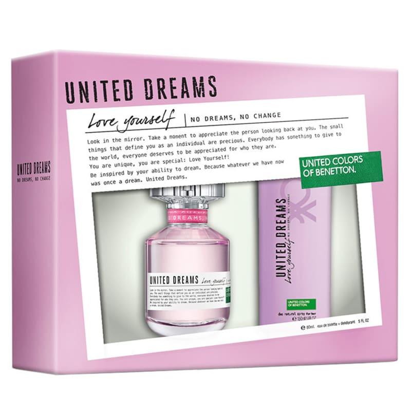 Benetton Conjunto Feminino United Love Yourself - Eau de Toilette 80ml + Desodorante 150ml