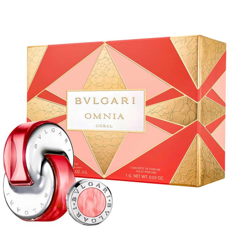 Conjunto Omnia Coral Bvlgari Feminino - Eau de Toilette 65ml + Perfume Sólido 1g