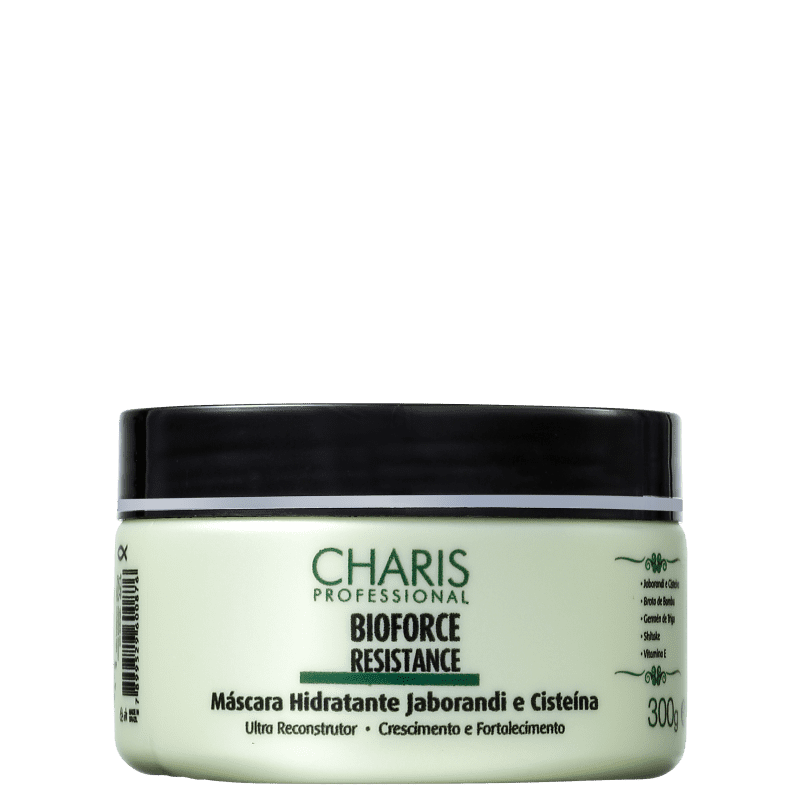 Charis Bioforce Resistance Jaborandi e Cisteína - Máscara de Reconstrução 300g