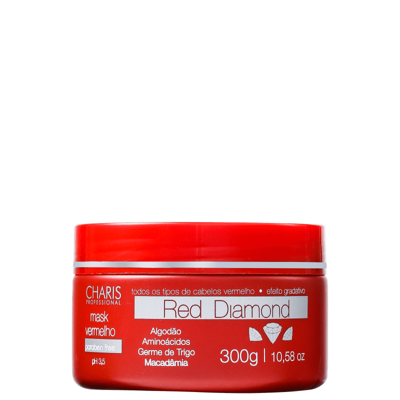 Charis Red Diamond - Máscara Capilar 300g