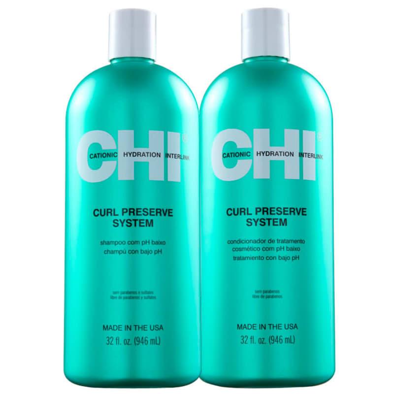 Kit CHI Curl Preserve System Salon Duo (2 Produtos)