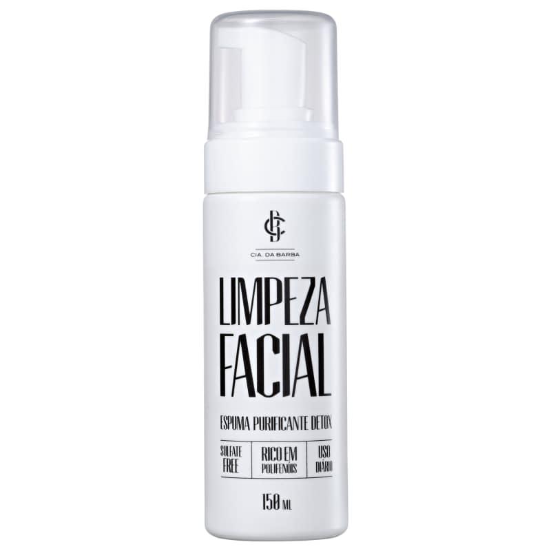 Cia da Barba Purificante Detox - Espuma de Limpeza Facial 150ml