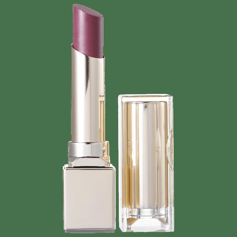 Clarins Rouge Eclat Satin Finish Age-Defying 06 True Aubergine - Batom Cremoso 3g