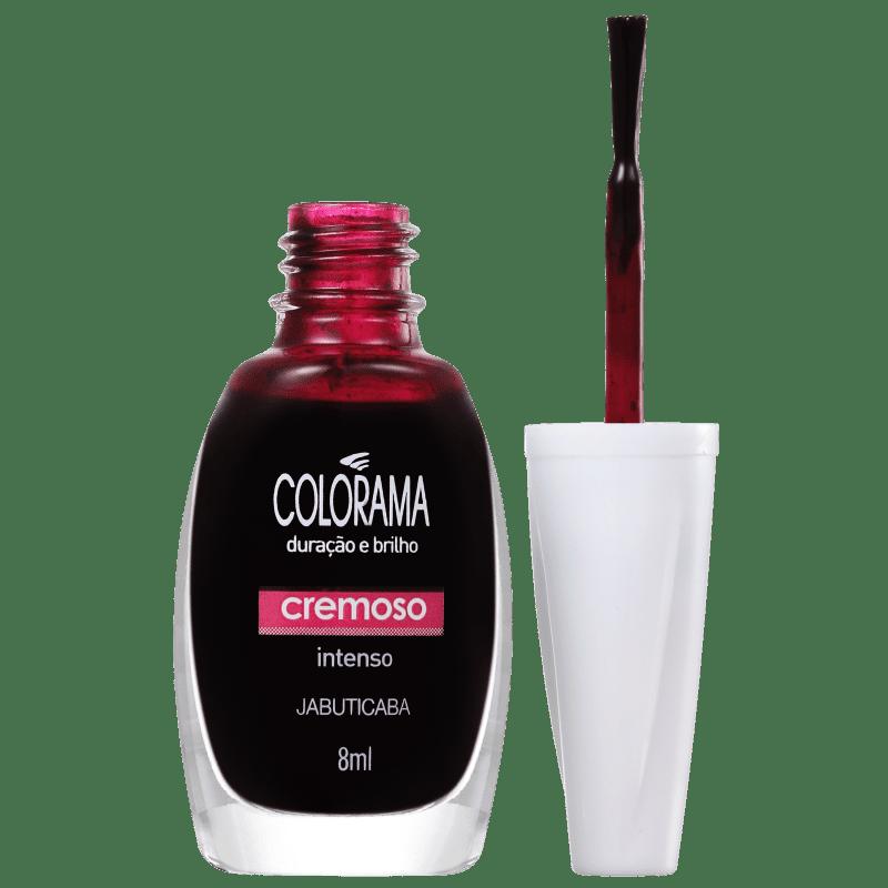 Colorama Verniz & Cor Jabuticaba - Esmalte Cremoso 8ml