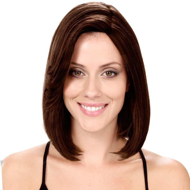 Crown Wigs Bianca Castanho Escuro - Peruca 30cm