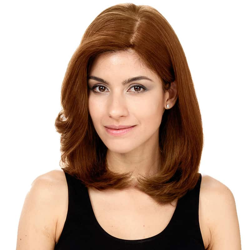 Crown Wigs Carol Castanho Claro - Peruca 35cm