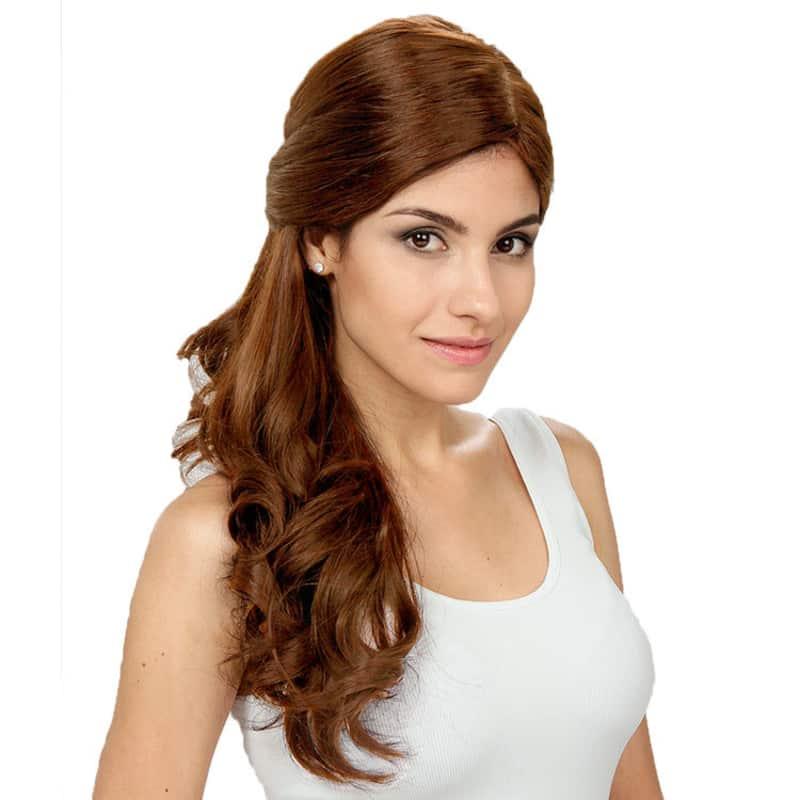 Crown Wigs Estela Castanho Claro - Peruca 56cm