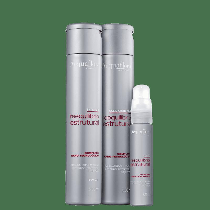 Kit Acquaflora Reequilíbrio Estrutural Fluido (3 Produtos)