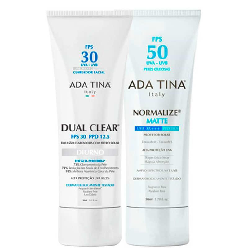 Kit Ada Tina Dual Clear Normalize Matte (2produtos)