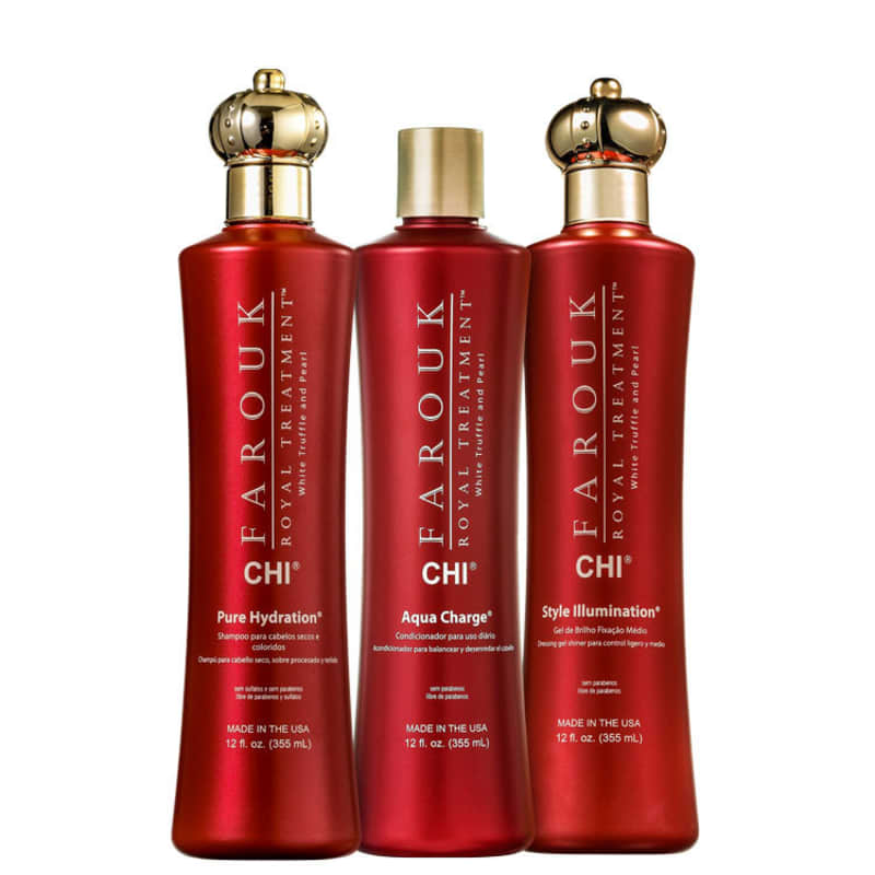 Kit CHI Farouk Royal System Hydration Charge Illumination (3 Produtos)