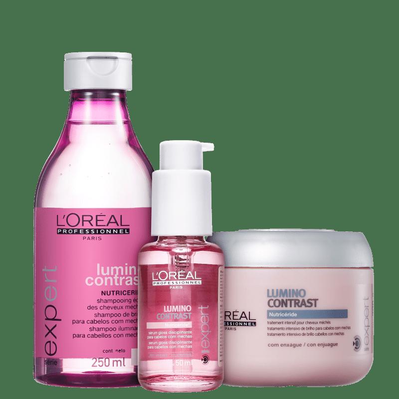Kit L'Oréal Professionnel Expert Lumino Contrast Escova de Brilho (3 Produtos)