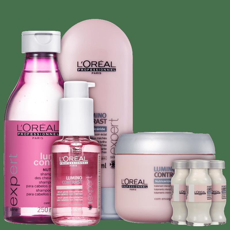 Kit L'Oréal Professionnel Expert Lumino Contrast Intensive Treatment (5 Produtos)