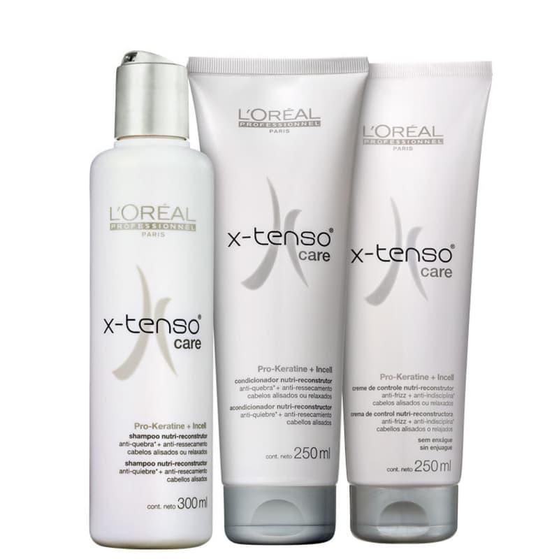 Kit L'Oréal Professionnel X-Tenso Care Discipline (3 Produtos)