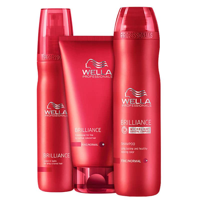 Kit Wella Professionals Brilliance Balm (3 Produtos)