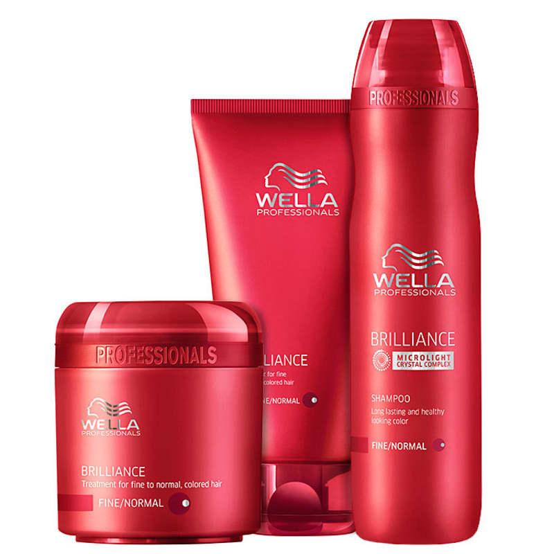 Kit Wella Professionals Brilliance Intense (3 Produtos)
