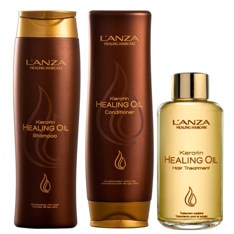 Kit L'Anza Keratin Healing Oil Treatment (3 Produtos)