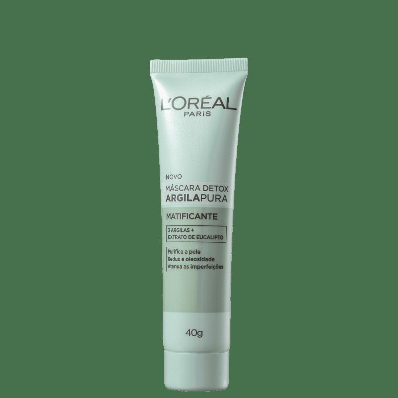 Máscara Detox Purificante de Argila L'Oréal