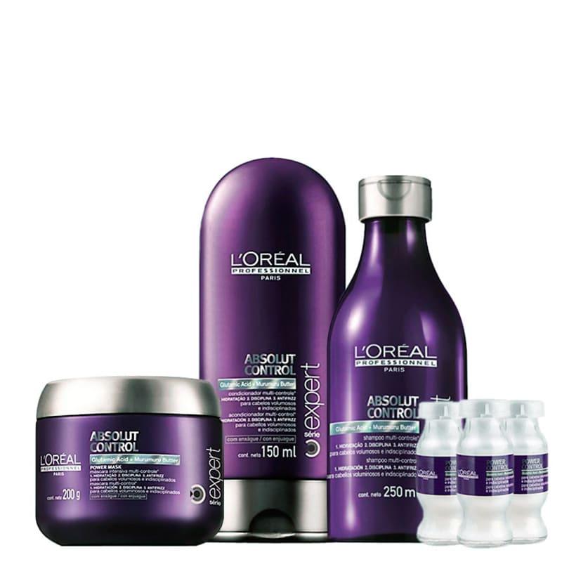 Kit L'Oréal Professionnel Expert Absolut Control Power Treatment (4 Produtos)
