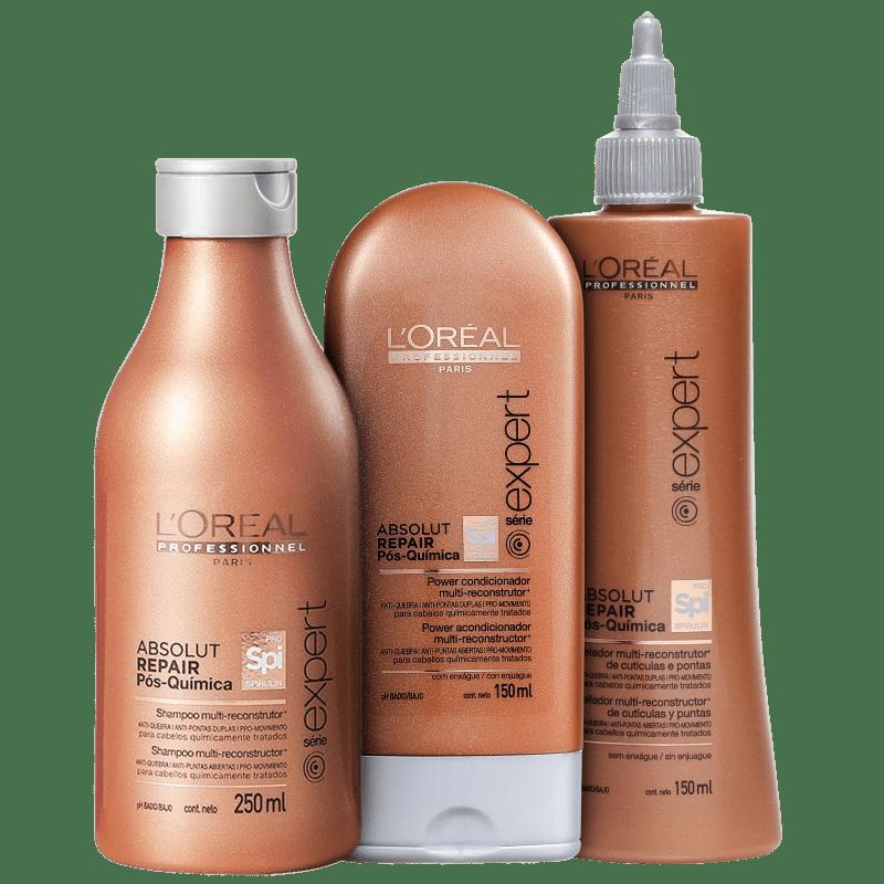 Kit L'Oréal Professionnel Absolut Repair Pós-Química Reconstrução e Proteção (3 Produtos)