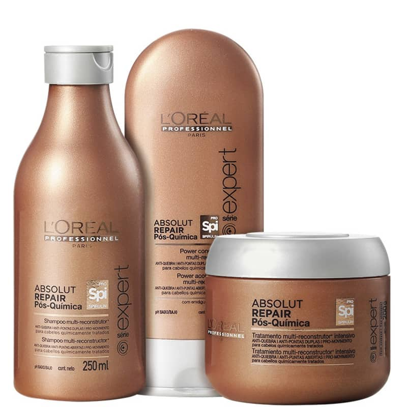 Kit L'Oréal Professionnel Absolut Repair Pós-Química Multi-reconstrutor Intensivo (3 Produtos)