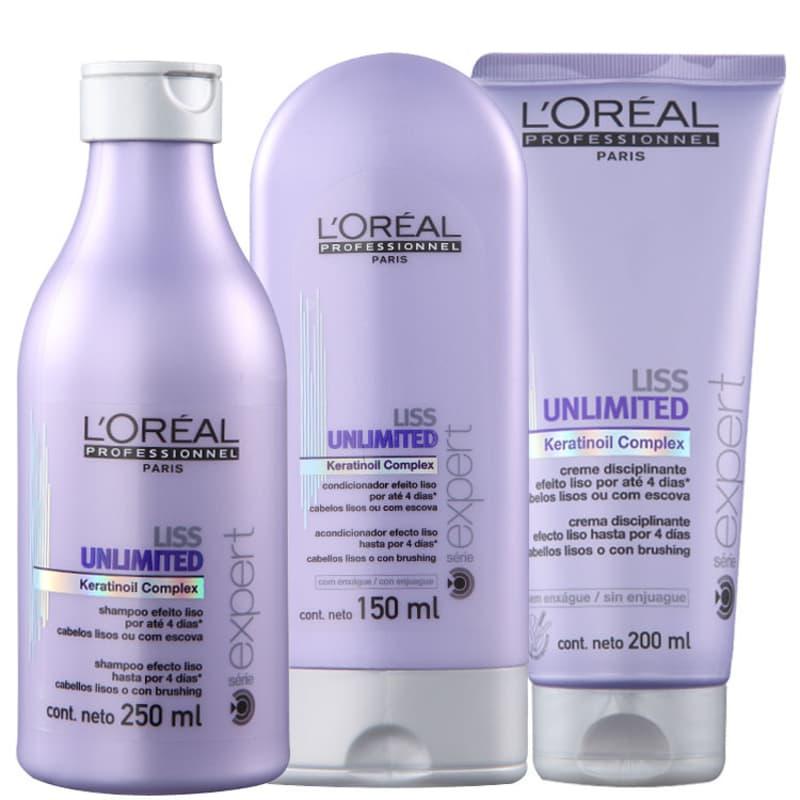 Kit L'Oréal Professionnel Expert Liss Unlimited Discipline (3 Produtos)