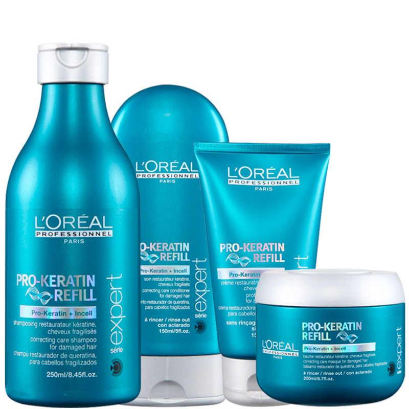 L'Oréal Professionnel Pro-Keratin Refill Kit de Tratamento Completo (4 Produtos)
