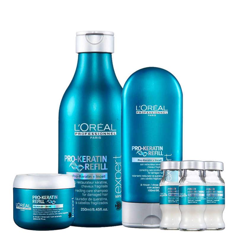 Kit L'Oréal Professionnel Expert Pro-Keratin Refill Pro-Keratin Refill Nutrition (4 Produtos)