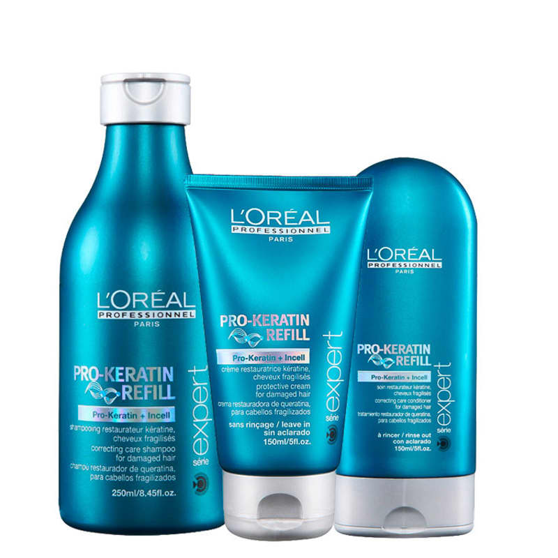 L'Oréal Professionnel Pro-Keratin Refill Thermo Protection Kit (3 Produtos)