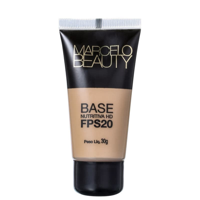 Marcelo Beauty Nutritiva HD FPS 20 Bege Natural - Base Líquida 30ml