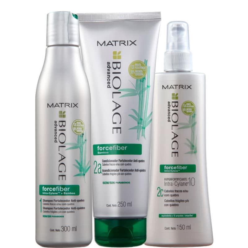 Matrix Biolage Forcefiber Hyperfortificante Concentrado Kit (3 Produtos)