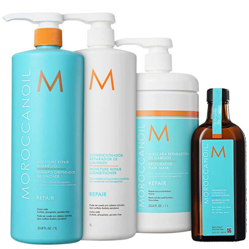 Kit Moroccanoil Repair Moisture Treatment (4 Produtos)