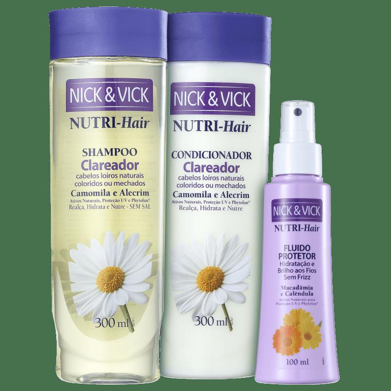 Kit Nick & Vick NUTRI-Hair Brilho sem Frizz (3 Produtos)