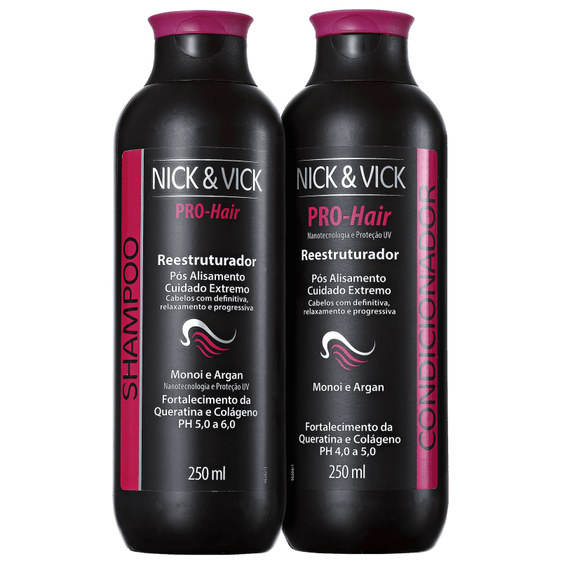 Kit Nick & Vick PRO-Hair Reestruturador Fim dos Danos (2 Produtos)