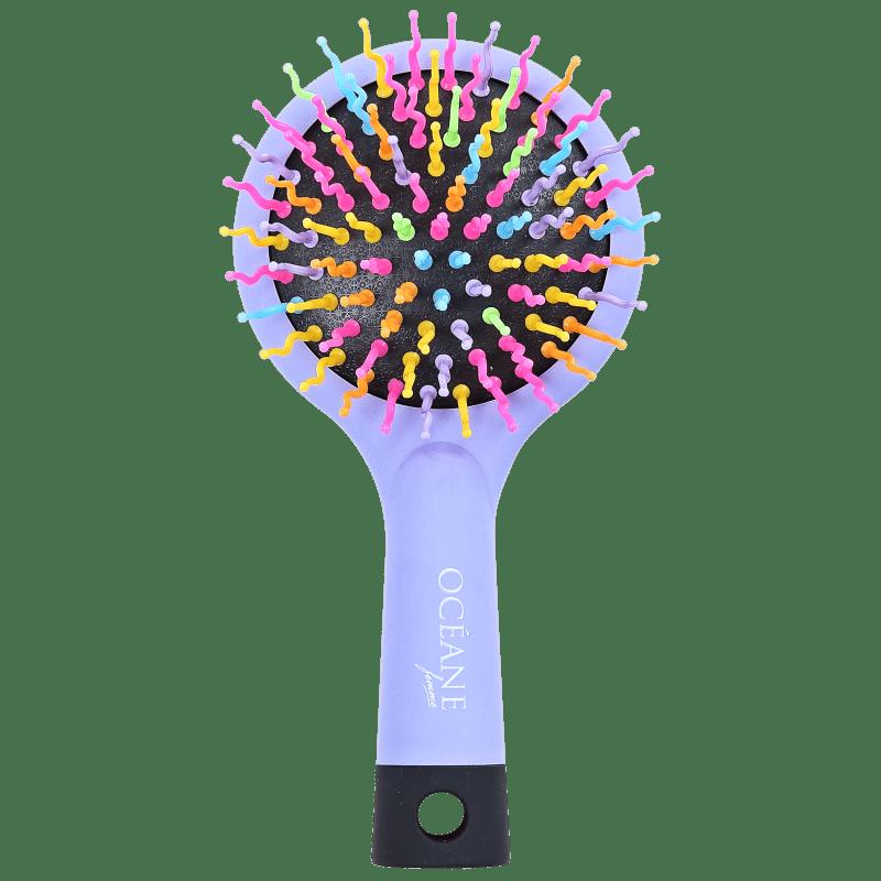 Océane Rainbow Brush Lilás - Mini Escova de Cabelo