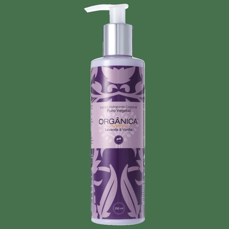 Orgânica Puro Vegetal Lavanda e Vanilla - Loção Hidratante Corporal 250ml