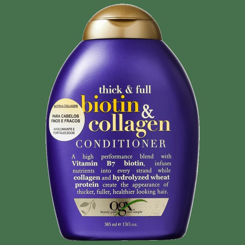 Organix Biotin & Collagen Conditioner - Condicionador 385ml