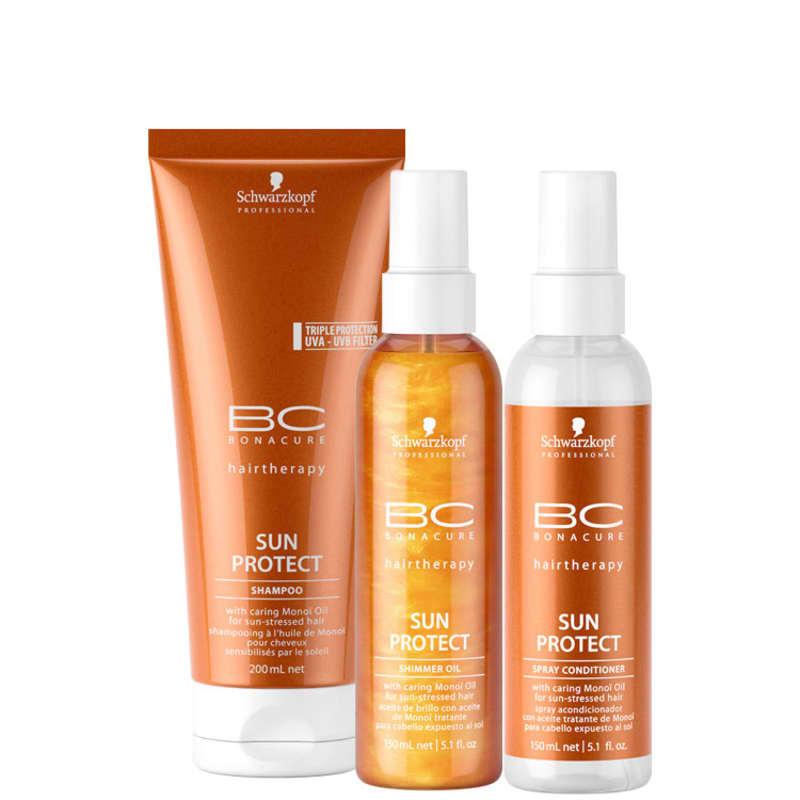 Schwarzkopf Professional BC Bonacure Sun Protect Shimmer Spray Kit (3 Produtos)