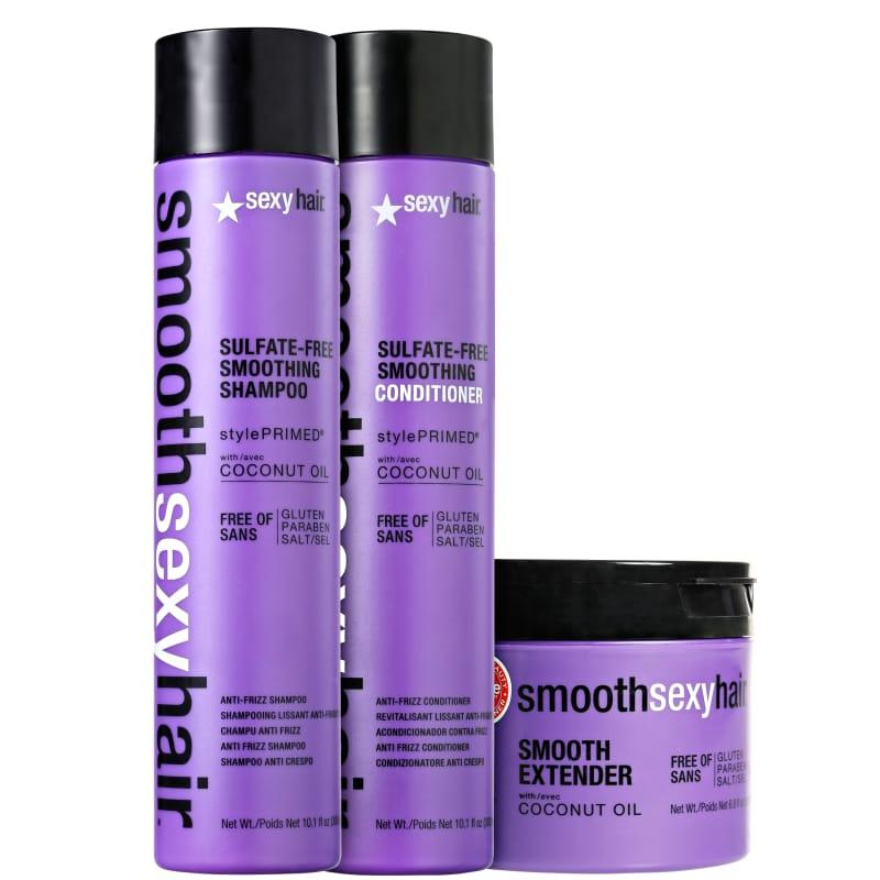 Kit Sexy Hair Smooth Tratamento Liso Perfeito (3 Produtos)
