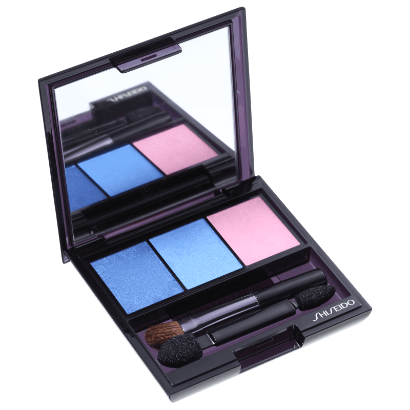 Shiseido Luminizing Satin Eye Color Trio Bl310 - Blue/Light Blue/Pink