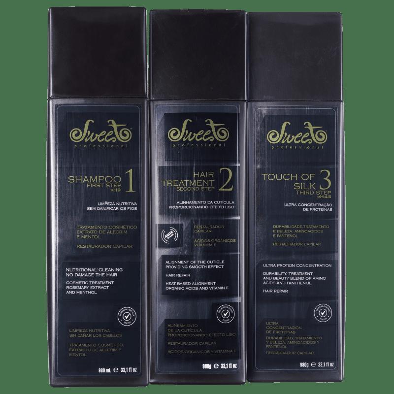 Kit Sweet Hair Lovely Escova Professional (3 Produtos)